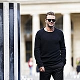 David Beckham at Paris Fashion Week 2016