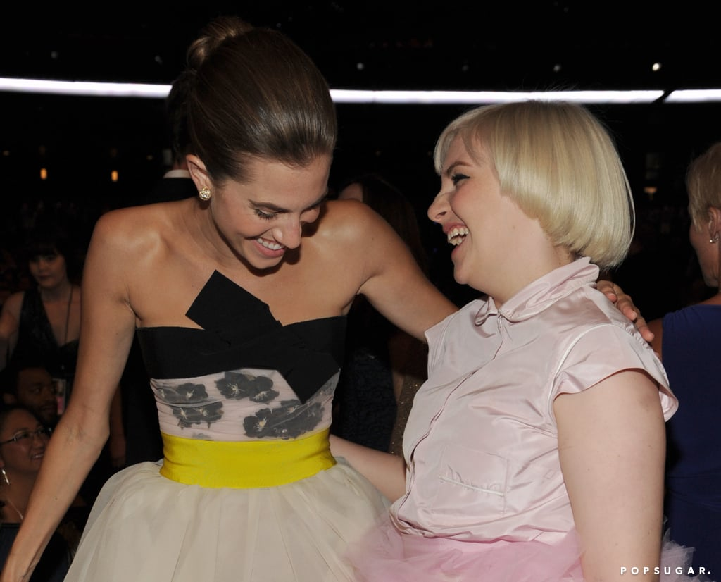 Girls' Allison Williams and Lena Dunham couldn't stop laughing.
