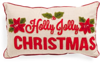 Holly Jolly Christmas Pillow ($25)