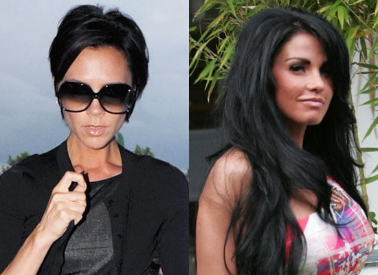 Photos of Katie Price and Victoria Beckham