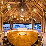 There are four dining rooms — one indoor and three outdoor — and each seats 12 people. The grand dining room and living palapa, however, are the center of the villa.