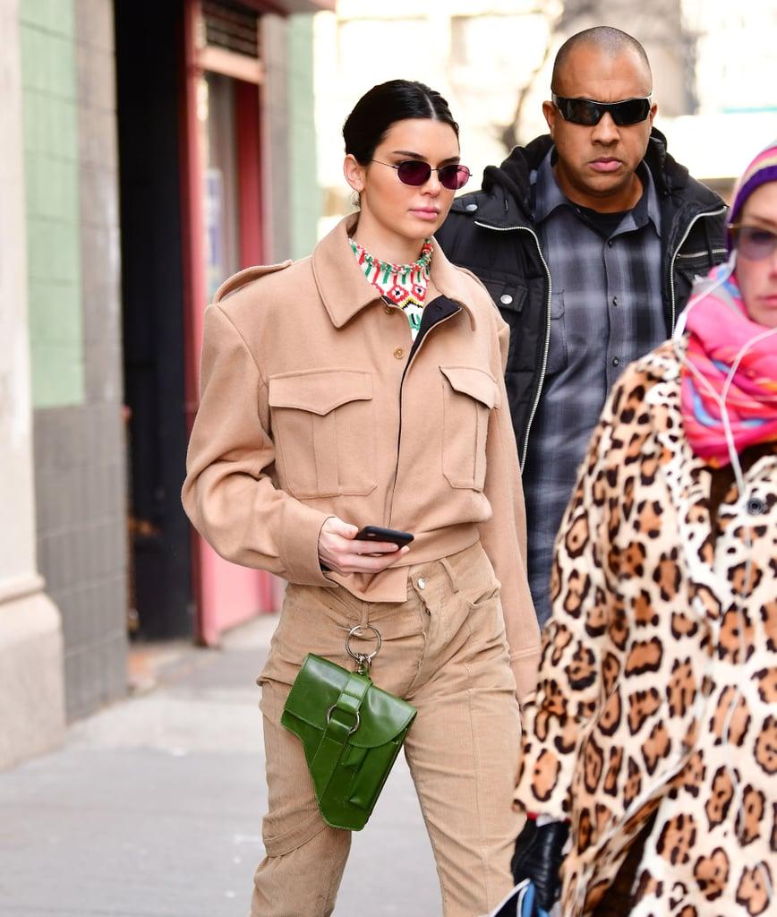 Kendall's Green Belt Bag