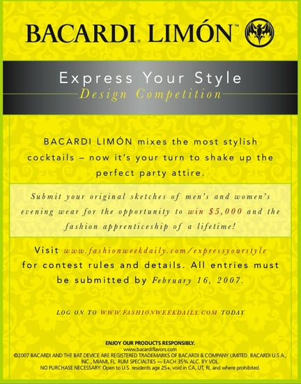 """Bacardi LIMON """"Express Your Style"""" Design Contest - LAST CALL!"""