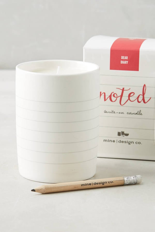 Mine Design Take Note Candle ($24)