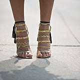 These snakeskin Alejandra G. sandals are so much better embellished with tassels.