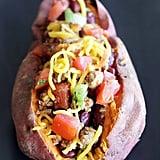 Chilli-Stuffed Sweet Potato