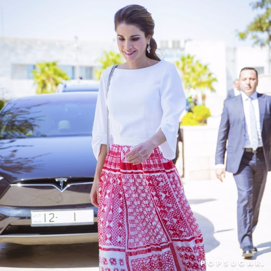 Queen Rania Red Fendi Skirt
