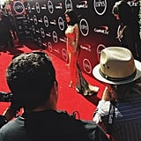 "Kylie also shared this BTS-style shot with the caption, ""espys for some fam support."""