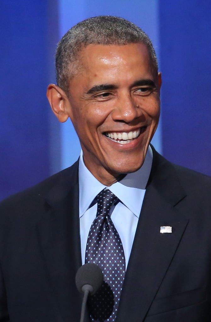 Obama going grey