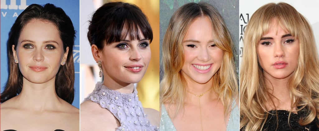 Photos of Celebrities With and Without Fringes