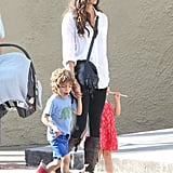 Camila Alves was out in New Orleans with her kids Levi McConaughey and Vida McConaughey.