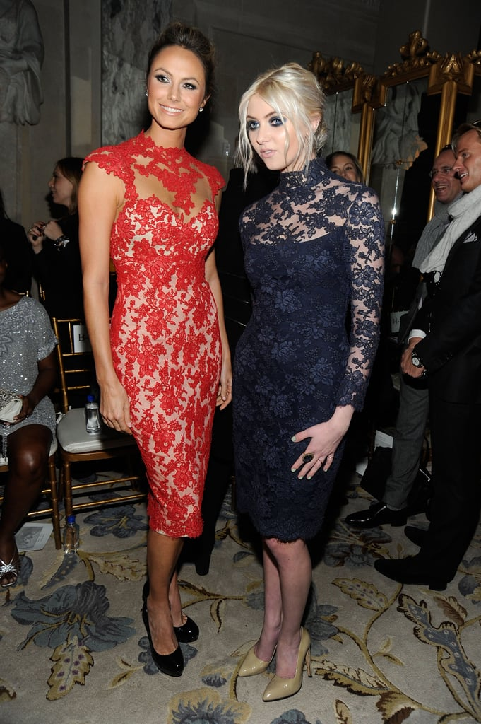 Stacy Keibler said hello to Taylor Momsen at Marchesa.