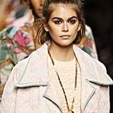 Top Knot Hairstyle Inspiration: Kaia Gerber