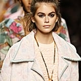 Topknot Hairstyle Inspiration: Kaia Gerber