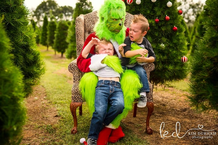 Photographer Stages Grinch Themed Photo Shoot Popsugar Family