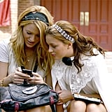Spotted: Blair looking fierce in a rhinestone headband that's not as dated as Serena's old Blackberry phone.