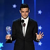 Rami Malek Won for Mr. Robot