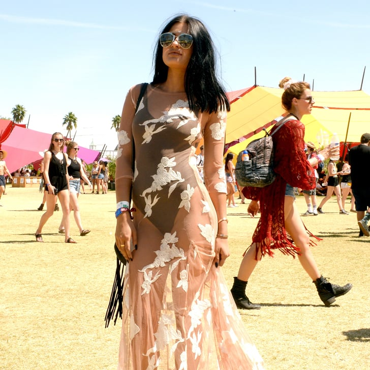 Selena Gomez Wears See Through Dress At Coachella Attends: Coachella Street Style Pictures 2016