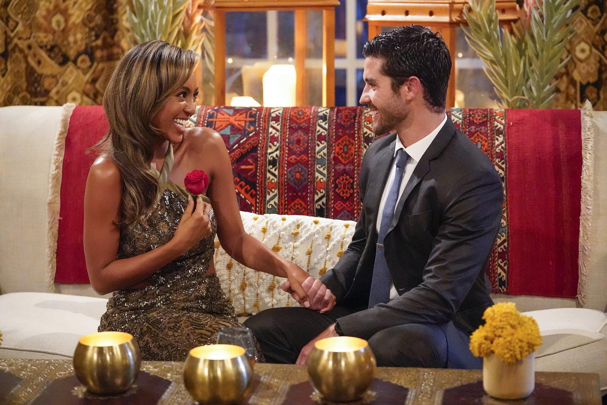 THE BACHELORETTE - 1605  Tayshia Adams, a huge fan favourite from The Bachelor and Bachelor in Paradise, has arrived to find the love of her life. Just when she is ready to begin her journey, another surprise arrivesmore men are added to the 16 remaining bachelors who are excited to get to know her. The competition for Tayshias heart heats up, but one man is struggling with his enduring feelings for Clare. Clare and her fianc, Dale, have a heart-to-heart chat with Chris Harrison as they try to explain the thunderbolt that hit both of them simultaneously. Brendan captures the first one-on-one date with Tayshia, but although he is eager to make a deeper connection, he is worried that baggage from a past relationship might put an end to his romantic prospects before the night is over on The Bachelorette, TUESDAY, NOV. 10 (8:00-10:01 p.m. EST), on ABC. (ABC/Craig Sjodin)TAYSHIA ADAMS, SPENCER