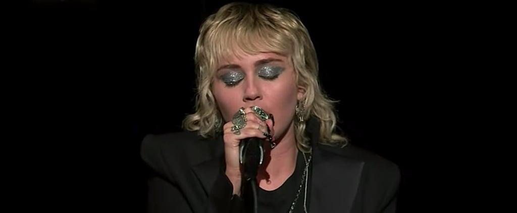 Miley Cyrus's Black Romper at Verizon Super Bowl Afterparty