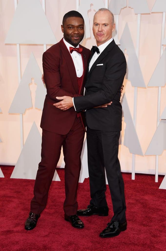 David Oyelowo and Michael Keaton Are Having a Full-On Oscars Bromance