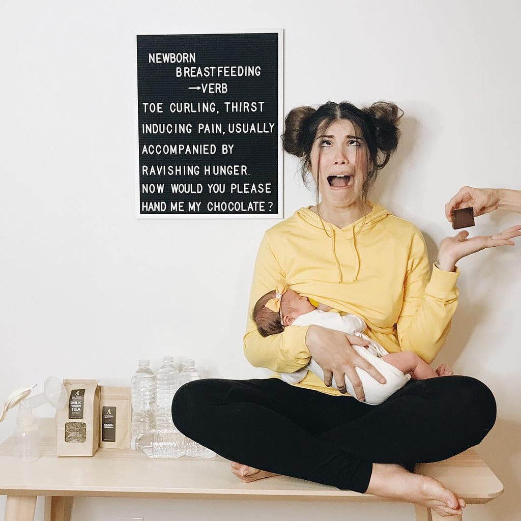 mom's letter board pregnancy progress photos | popsugar moms