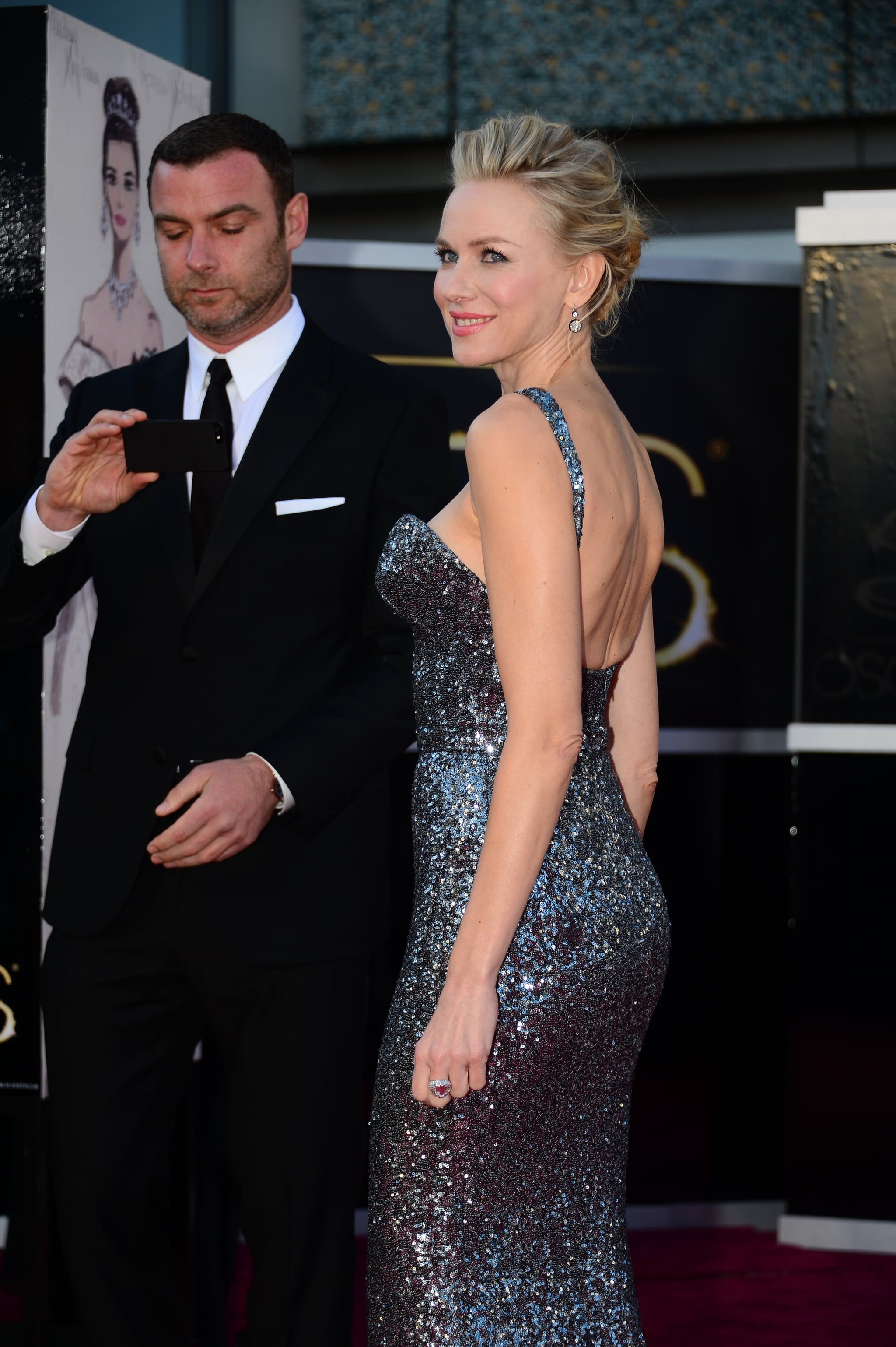 Liev Schreiber snapped a photo of Naomi Watts to remember the moment.