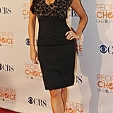 Sofia was camera-ready at the 2010 People's Choice Awards nomination conference in a body-hugging dress with leopard chiffon detail.