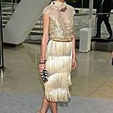 Olivia Palermo wore a fringed dress to the CFDA Fashion Awards.