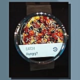 Ordering food with Eat24 in Android Wear.