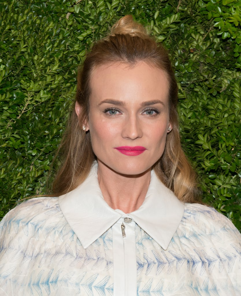 Add a bit of wave to the ends of your strands like Diane Kruger did for extra texture.