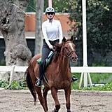 Iggy Azalea practiced her equestrian skills in LA on Friday.