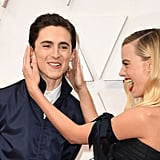 Timothée Chalamet and Margot Robbie at the 2020 Oscars