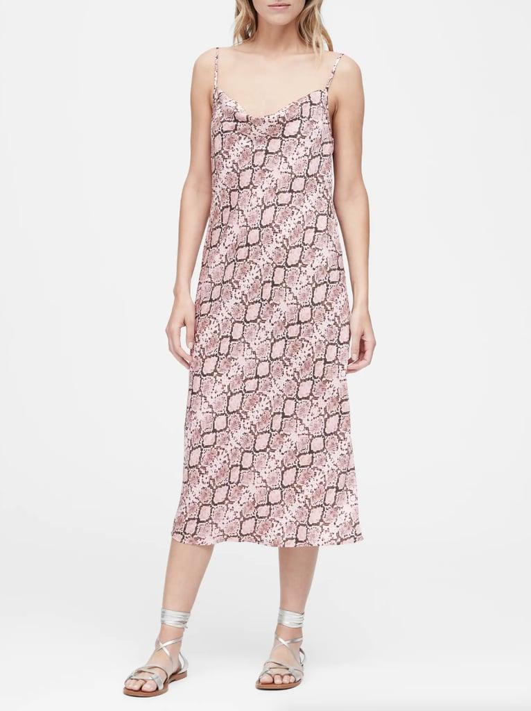 Snake Print Midi Slip Dress