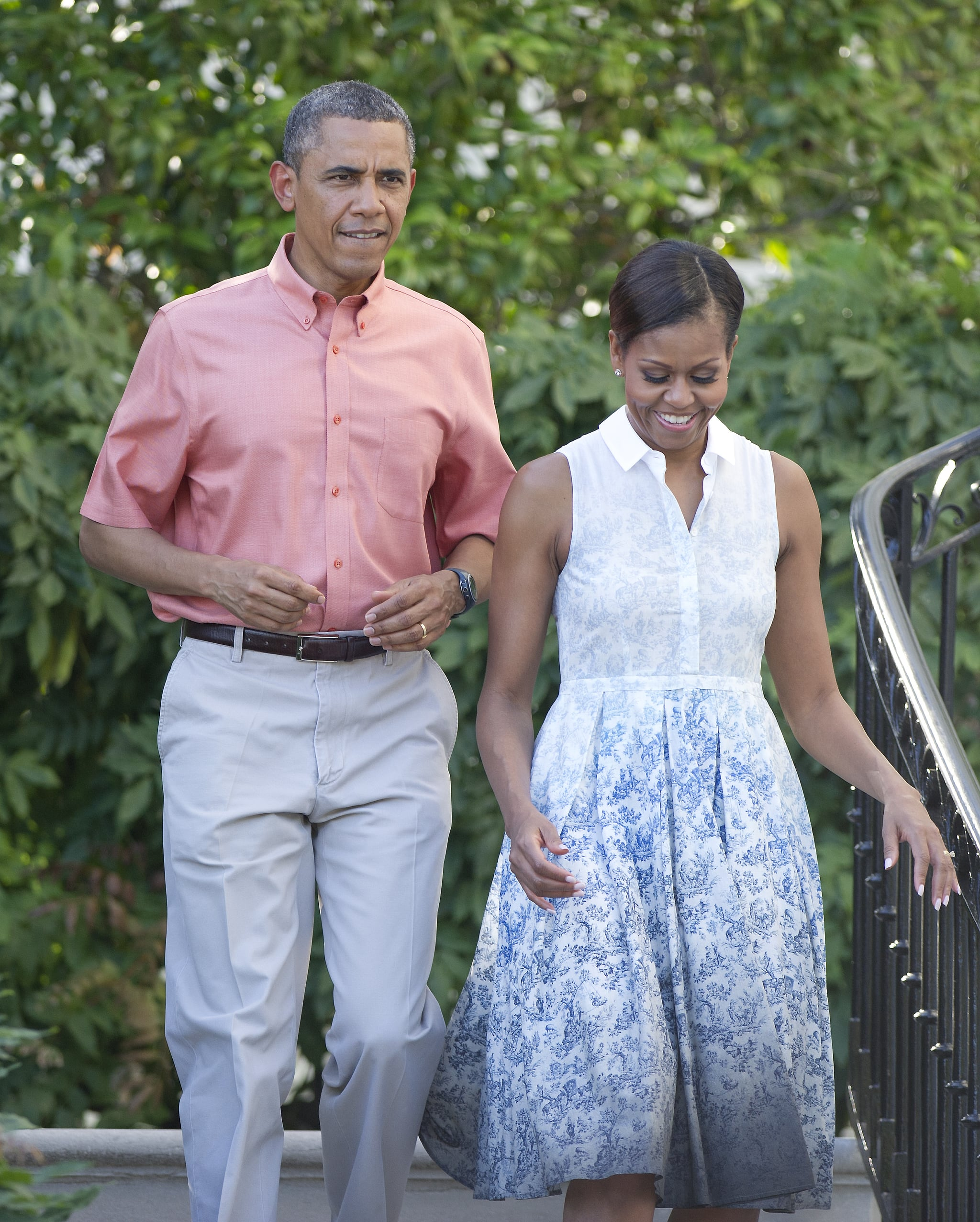 The Obamas sported their red, white, and blue best for the 2013 holiday BBQ at the White House.