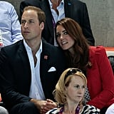 Kate got close to William while watching the Olympics in August 2012.