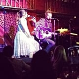 Nikki Reed (looking stunning in Moschino), alongside her husband, Paul McDonald, serenaded us at a special Rent the Runway dinner.