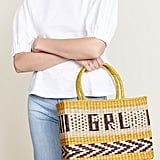 From the beach to the bar, carry that girl power with pride with the Nannacay Goa Girl Power Tote ($230).