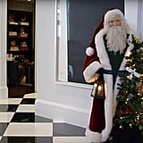 A lifelike Santa Claus statue stood in her hallway in 2016.