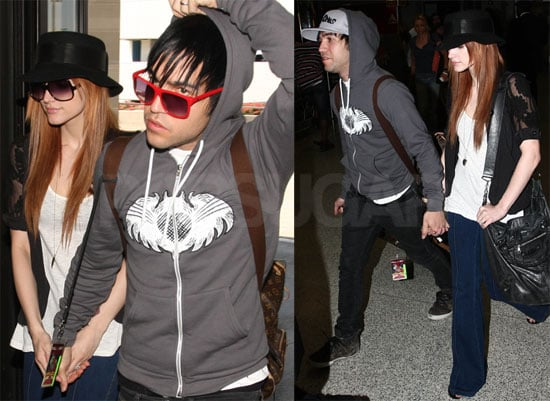 Photos of Pete Wentz and Ashlee Simpson at JFK and LAX Amid Rumors of Fall Out Boy Breakup