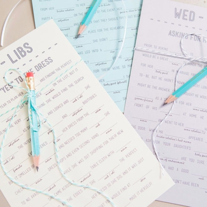 free printable wedding mad libs popsugar smart living