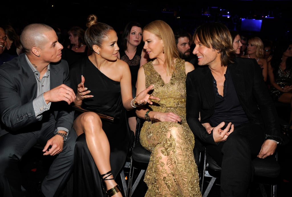 Casper Smart, Jennifer Lopez, Keith Urban, and Nicole Kidman