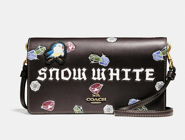 Snow White Foldover crossbody clutch Coach r8nbuzHDB