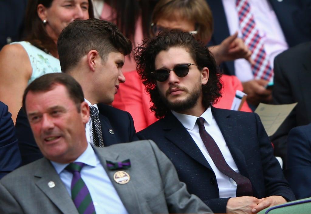 Kit Harington Brings His Sexy Smoulder to the Royal Box at Wimbledon