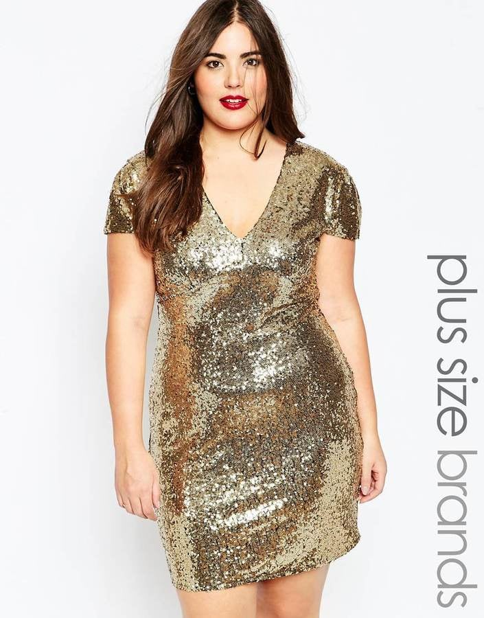 Club L Plus Size Sequin Dress With V Neck Where To Buy The Best
