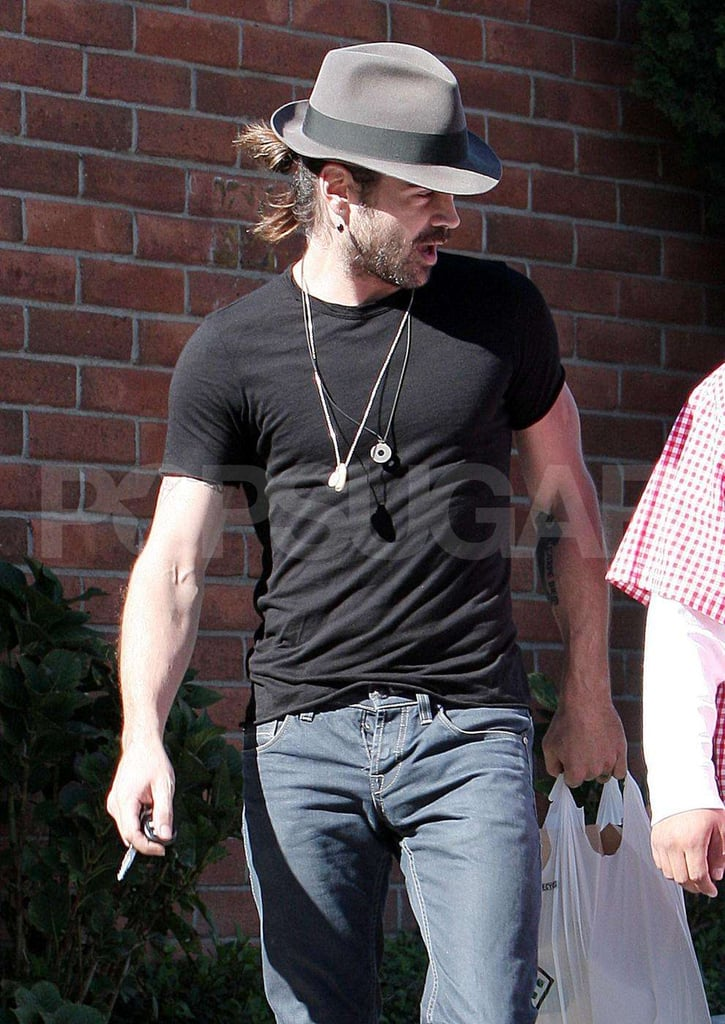 Colin Farrell Grocery Shopping in LA