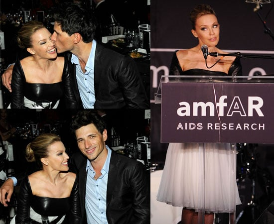 Pictures of Kylie Minogue and Andres Velencoso Kissing at amfAR Event