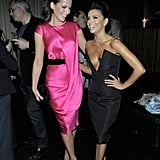Good friends Kate Beckinsale and Eva Longoria laughed.