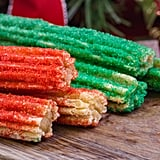 Red and Green Dusted Churros