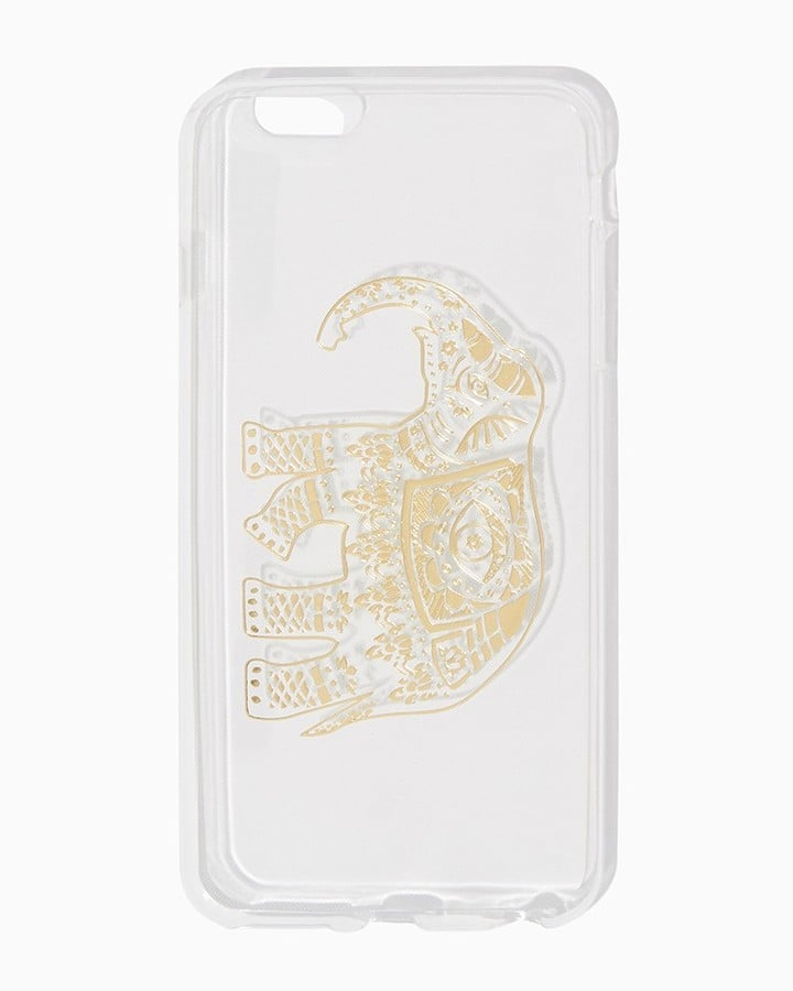 Charming charlie Metallic Elephant iPhone 6/6+ Case ($9)